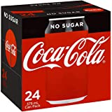 Coca Cola No Sugar Soft Drink Cans 375ml x24 Pack