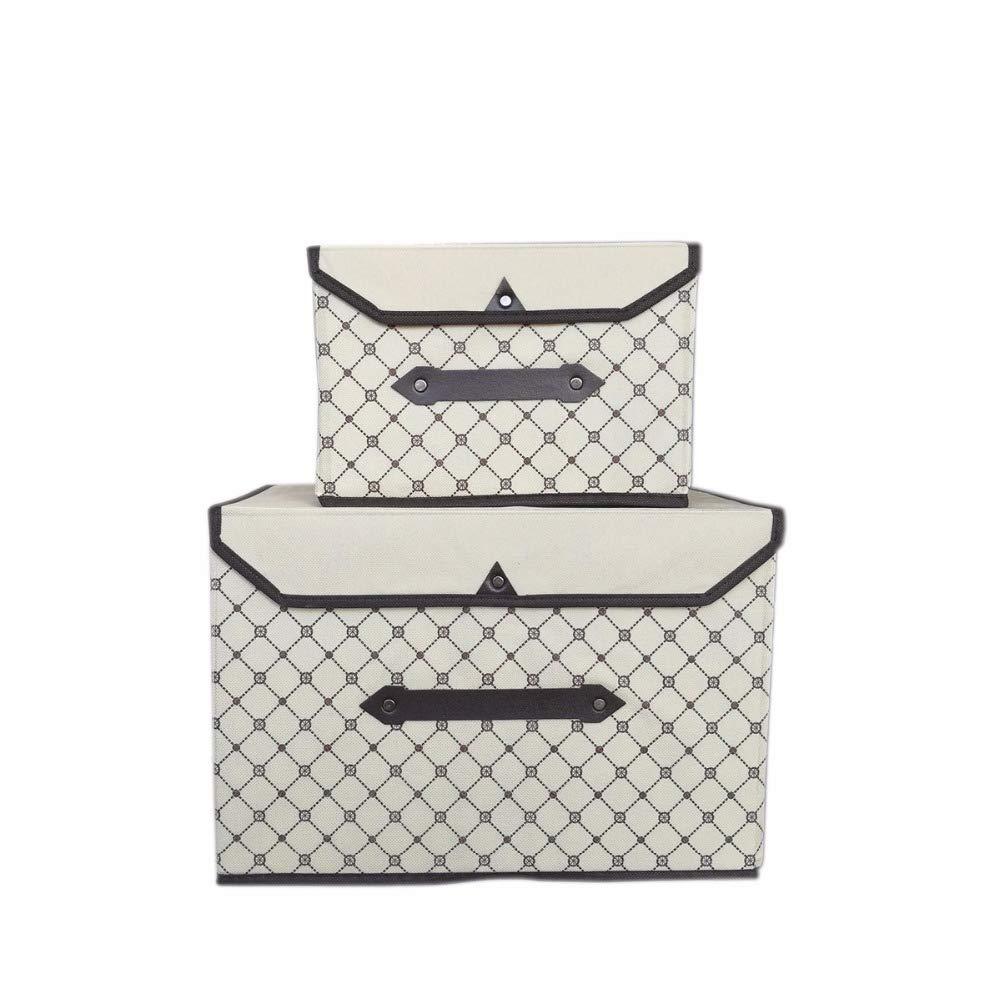 HENGHUA New Foldable Non-Woven Fabric Storage Box Clothes Organizer Underwear Socks Bra Books Toys Storage Bins Cosmetics Box Set