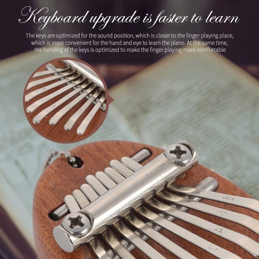 Amazon.co.jp: 8キー親指ピアノ、カリンバピアノミニ木製親指ピアノ子供のための穴付きポータブル指ピアノ大人初心者音楽愛好家:  ホーム&キッチン