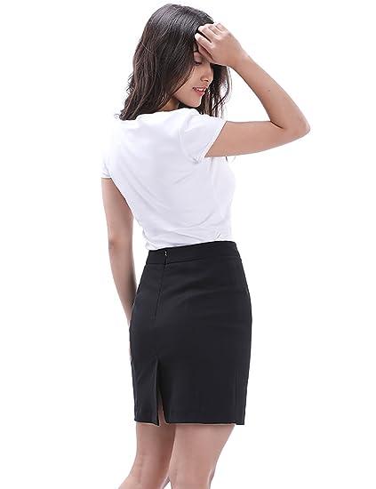 Fancyqube Women S Short Mini Pencil Skirt Above The Knee Classic