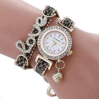 Reloj para Mujer Pulsera de aleación de Diamantes Reloj Love ...