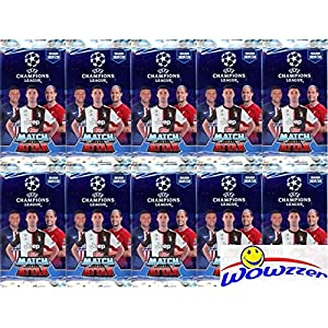 2019/20 Topps Match Attax Champions League Soccer Collection of (10) Factory Sealed Foil Packs with 60 Cards! Look for Top Stars including Ronaldo, Lionel Messi, Harry Kane, Neymar Jr & More! WOWZZER!