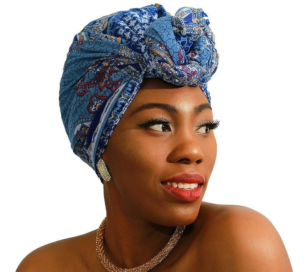 bluee LMVERNA Women Jersey Hijab scarf muslim Scarves Printe Shawl Wrap Design Long fashion Scarves