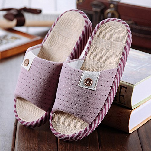 pantofole biancheria e Home donne Hui Y Home uomini piano onorevoli estate coppie Estate antiscivolo Violet Piano pantofole Fqgz5wS