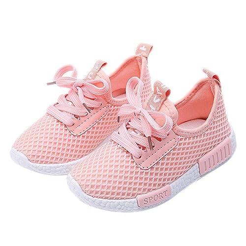 92e28d728bdd49 Jamicy® Kleinkind Kinder Sport Laufschuhe Babyschuhe Jungen Mädchen Brief  Mesh Schuhe Turnschuhe (26 CN