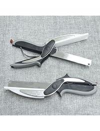 Take 2-in-1 Slicer Knife Cutting Board Home Kitchen Scissors Tool dispense