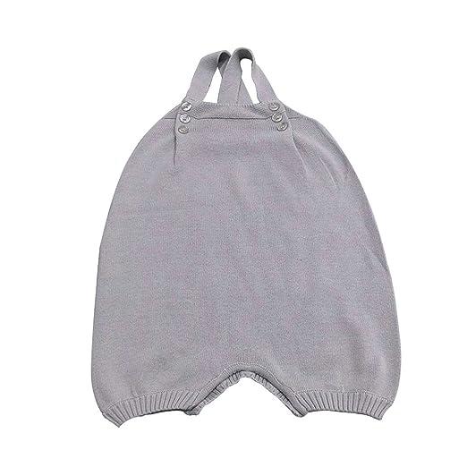 dc56408febc0 CC Shop Baby Girl Boy Knit Overalls Shoulder Strap Crossed Back Jumpsuits  Romper (S
