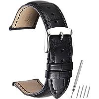 Orologio Cinturino Geniune Ricambio 14mm 16mm 18mm 19mm 20mm 21mm 22mm Fibbia Classica Con Fibbia Nero CHIMAERA