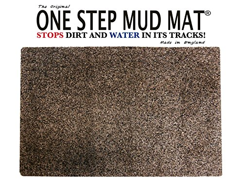 One Step Mud Mat Original Made in England 31W x 47L Large Brown Cotton Microfiber Indoor Floor Mat with Non Slip Backing Traps Mud and Dirt Perfect for Pets Excellent for High Traffic Areas (England Rug Floor)