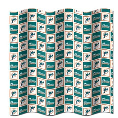 Lovely Miami Dolphins NFL Fabric Shower Curtain (72x72)
