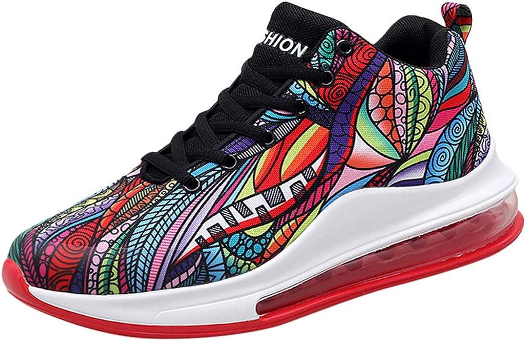 Zapatillas para Hombre - Zapatos Deportes Baloncesto Senderismo Running Andar Zapatos Amortiguadores de Colchón de Aire Sneakers Calzado 3D Pintadas