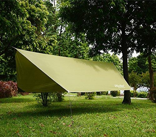 61wXqA81rTL iNeibo Tarp 3x4 Wasserdicht Zeltplane Sonnenschutz Regenschutz mit 5 Zeltheringe und 6 Lange Schnüre Camping Zubehör…
