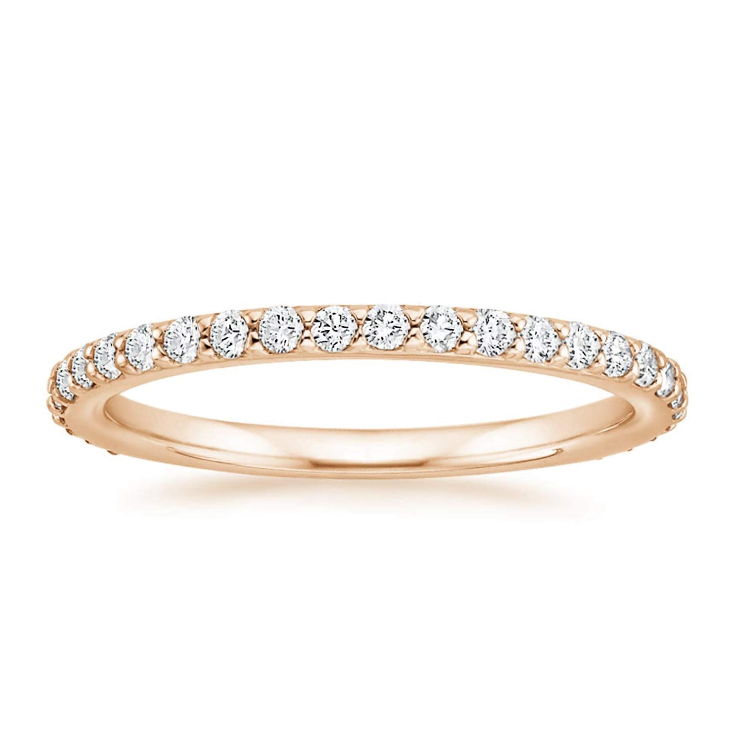 PAVOI 14K Gold Plated Sterling Silver Cubic Zirconia Diamond Stackable Eternity Bands for Women