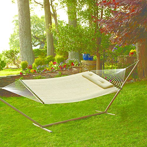 Woven Hammock with Pillow by Blissliving Home