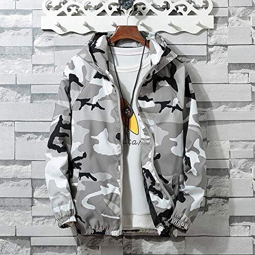 1 Camouflage Manteau Hooded Rayure Gris Vest Blousons Sanfashion Veste Sport Longue Homme Manche T5w7xqfR