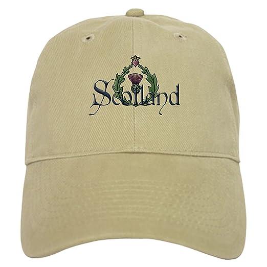CafePress - Scotland  Thistle Cap - Baseball Cap with Adjustable Closure 6600c2aefa88