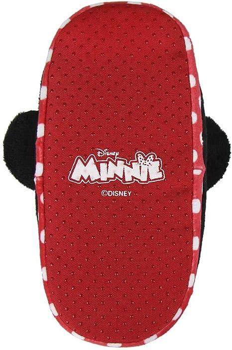 Chaussons pour enfants 3D Minnie rouge Disney