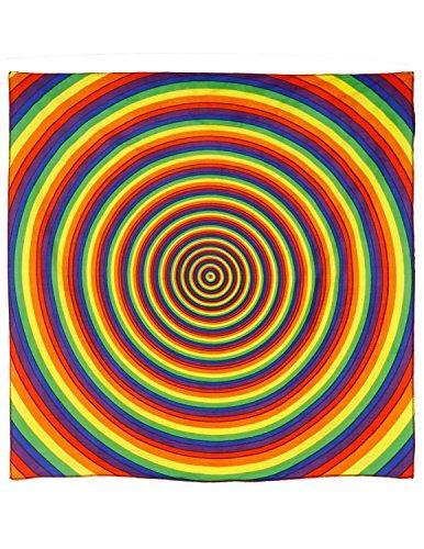 Joy Handkerchief (Sunshine Joy Rainbow Circle Bandana 22x22 Inches)
