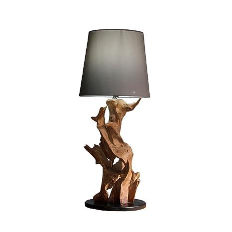Floor Lamp with Teak Ikal Height 75 cm | Table Light Burl