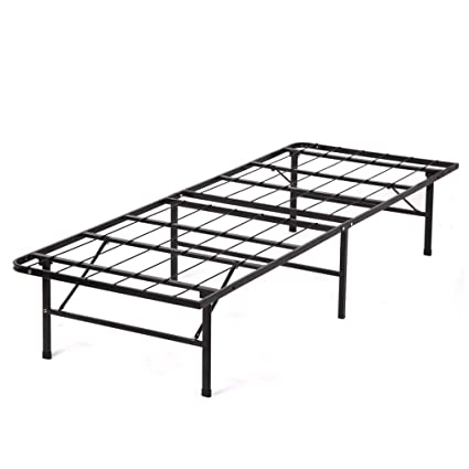 Amazon.com: New Modern Bi-Fold Twin Folding Platform Metal Bed Frame ...
