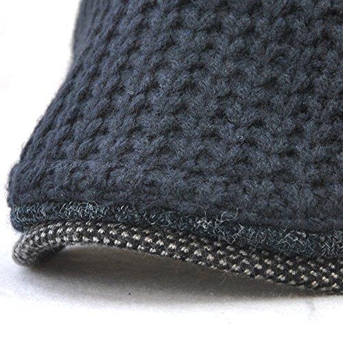 tapas sombreros blue Hombre mediana Invierno tapas de de tejidos hombres sombreros oscuro edad Halloween beanie Otoño mujeres Dark sombreros térmica MASTER Navidad gris YqwFxCAYS