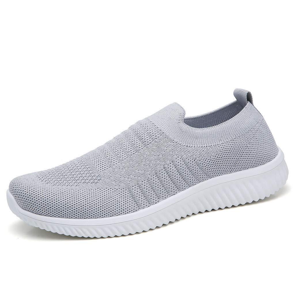 Luckhome Laufschuhe Damen Socken Damen Hausschuhe Damen Yoga Damen Sneaker Schuhe Gewebte atmungsaktive ultraleichte Turnschuhe mit flachem Mesh für Damen Freizeitschuhe Lazy Shoes