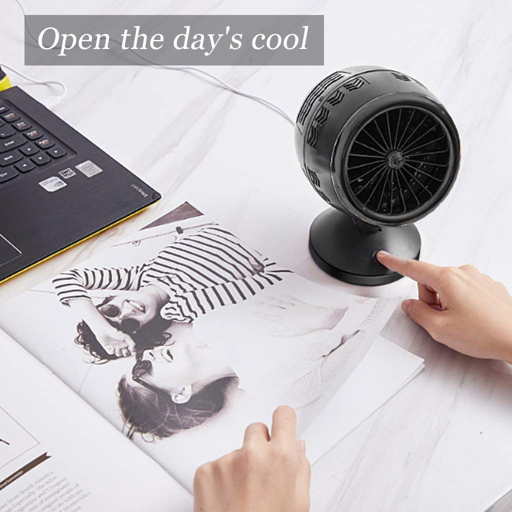 Sttech1 Portable Creative Desktop Table Fans Turbine Intelligence Fan USB Charging Double-Blade Personal Fans Touch Switch (C) by Sttech1-Home (Image #4)
