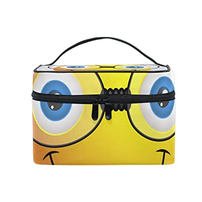 ALIREA Funny Emoji Smiley Emoticon Cosmetic Bag Travel Makeup Train Cases Storage Organizer