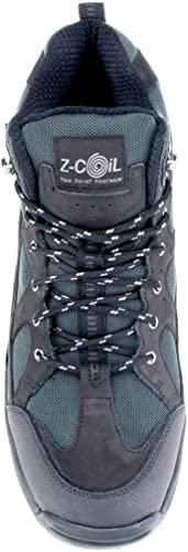 Z-CoiL Pain Relief Footwear Mens Outback Hiker Black Boots