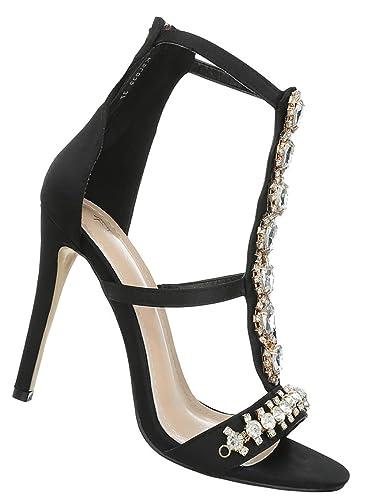 neuer Stil e423f 9a27b Damen Schuhe Sandaletten High Heels Abendschuhe Ballschuhe Festliche Pumps  36-41