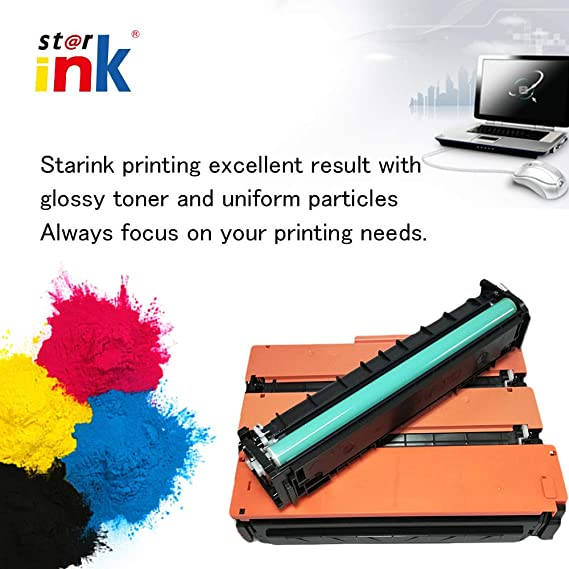 Starink Compatible Toner Cartridge for 410A CF410A: Amazon.in: Electronics