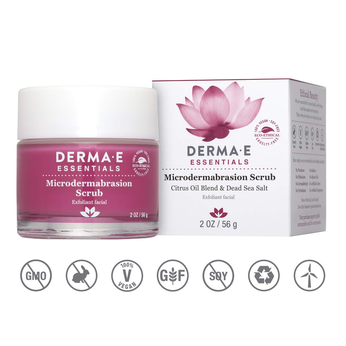 DERMA E Microdermabrasion Dead Sea Salt Scrub, 2oz by derma e
