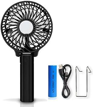 Welltop Handfan Ventiladores recargables Mini ventilador de mano ...