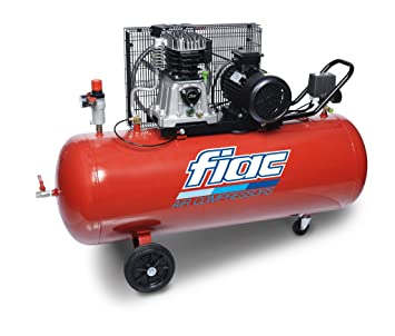 Compresor Aire Acondicionado 200 LT fiac a partir de 200 - 360 T Transmisión por correa 2,2 kW de potencia carrellato: Amazon.es: Deportes y aire libre