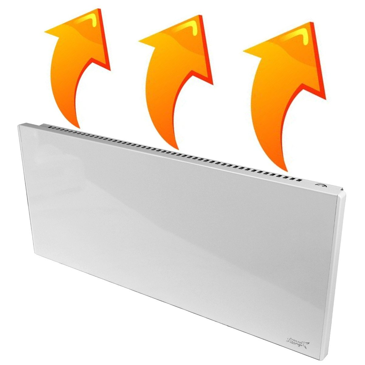 New Age Living Phantom 10 Wall Panel Heater - 750W - Radiant & Convection Heating - Silent With No Moving Parts - TUV Rated For Safe Home Use