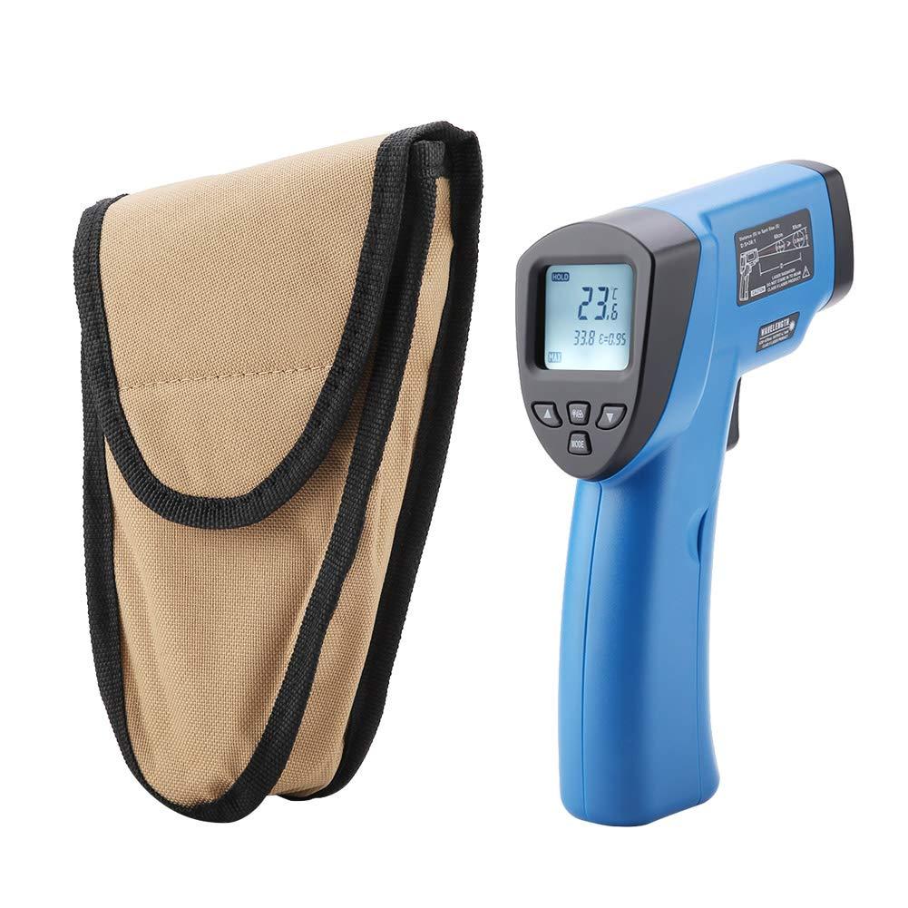 Zunate Infrarot Thermometer,DT8011T01 Infrarot Thermometer IR Pyrometer berührungslos Temperaturmessgerät mit LCD Beleuchtung Digital Laser Infrarot Thermometer,- 50℃~1100℃(-58℉〜2012℉)