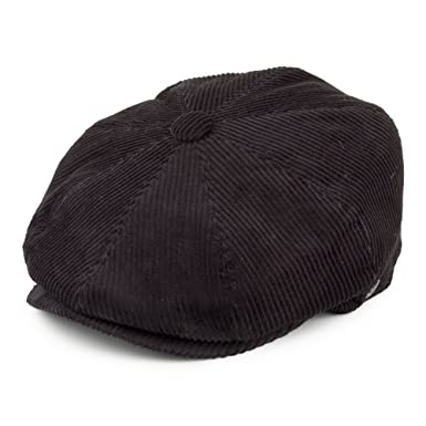 4524f9aa529 Jaxon   James Corduroy Newsboy Cap - Black  Amazon.co.uk  Clothing