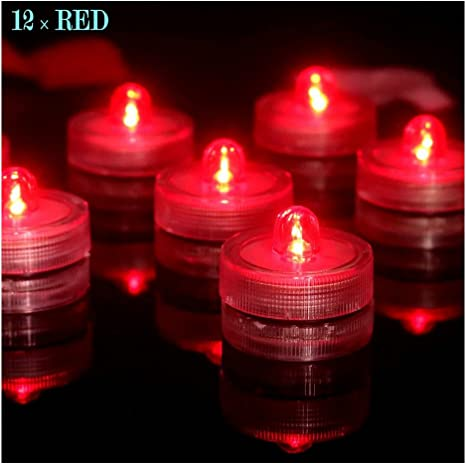 12 led lights waterproof battery operated for vases Battery Included Tea Light