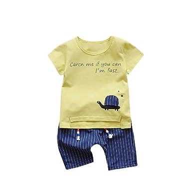 Conjunto Bebé Niño, K-youth® Ropa Recién Nacidos Ropa Bebe Niño Verano Camiseta
