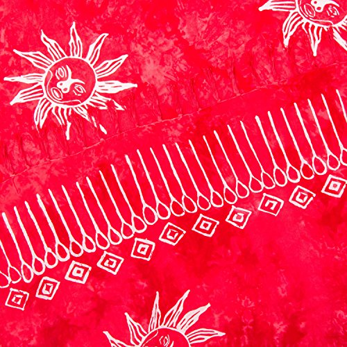 sauna e per 225x115cm 155x115cm foulard sfrangiato colori XXL donna Rosso motivi telo telo non e leggero gonna da ManuMar trasparente mare portafoglio taglia pareo sarong Sole forte spiaggia a S4wxZ