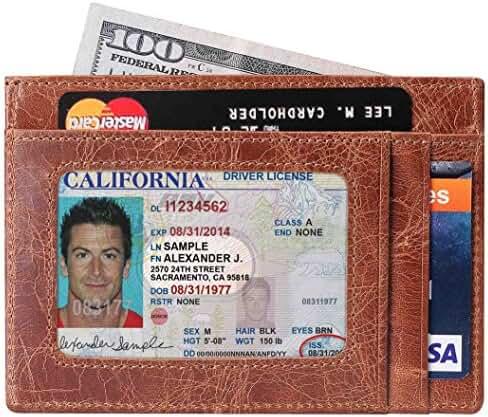 SimpacX Slim Wallet RFID Front Pocket Wallet Minimalist Secure Thin Credit Card Holder