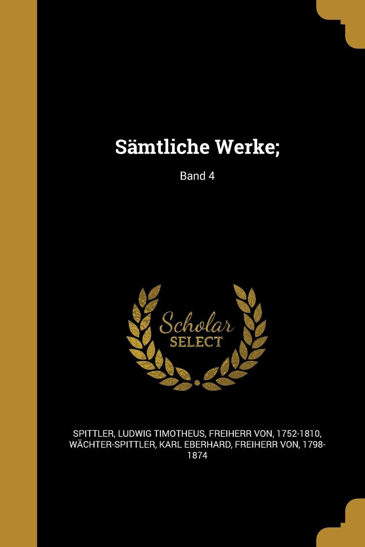Download Samtliche Werke;; Band 4 (German Edition) pdf epub