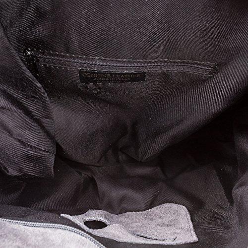 à Femme Boho franges Pelle main de en Firenze Main Shopping femmes Chamois Vera à Sac Made italienne in 42 peau Sac véritable Bag cuir Co gris artegiani Sac nbsp;cm 12 épaule cuir nbsp;x 34 en Italy genuino nbsp;x BfxqRgxvw