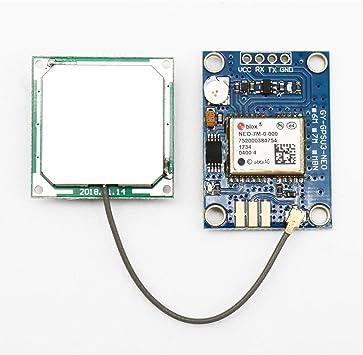 ZHITING Módulo GPS NEO-7M, APM2.5 GYGPSV1 Placa GPS Accesorio para módulo de posicionamiento satelital con Antena direccional de cerámica