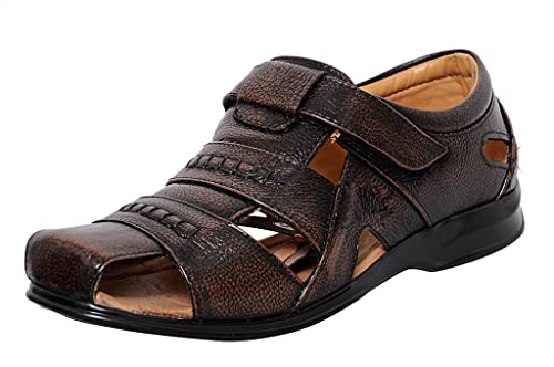 72130cf5033 Zoom Mens Sandal Online Genuine Leather Sandal D-1271-Brown Sandal  Buy  Online at Low Prices in India - Amazon.in