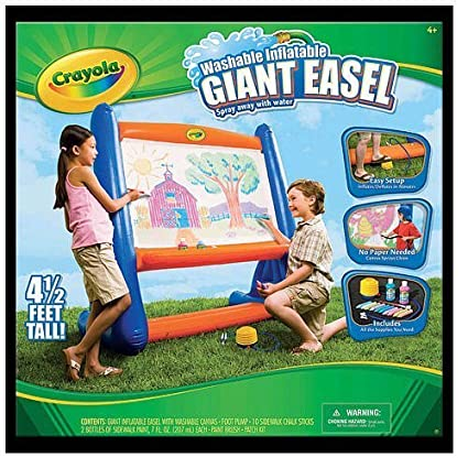 amazon com crayola washable inflatable easel toys games