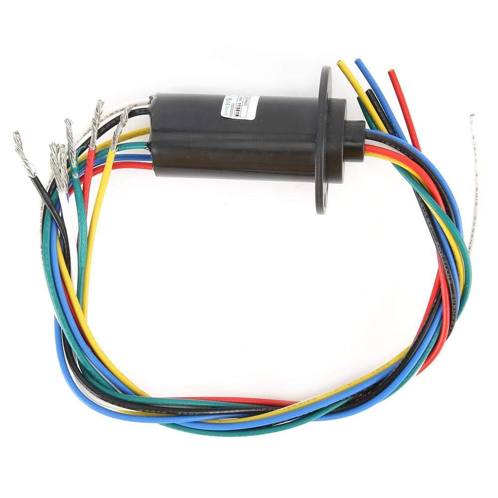 0.03Nm//6ch MW1615 Bague collectrice conductrice 50RPM Taux nominal 6 anneaux 29,8 mm de diam/ètre /Équipement de haute puissance Pi/èces Anneau de collecte /électrique 0~600VAC//DC 0.1N//m
