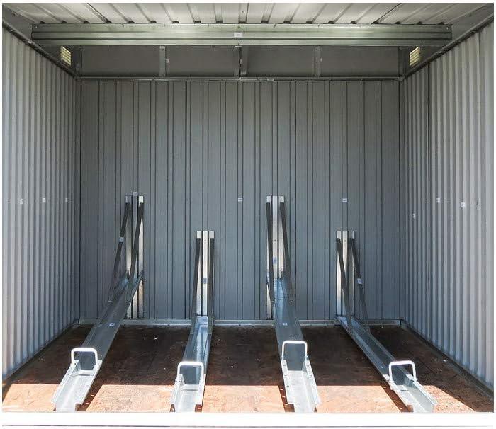 Gardiun KIS12968 - Caseta Metálica para Bicicleta Veloc I (X2) 2, 81 m² Ext: Amazon.es: Jardín