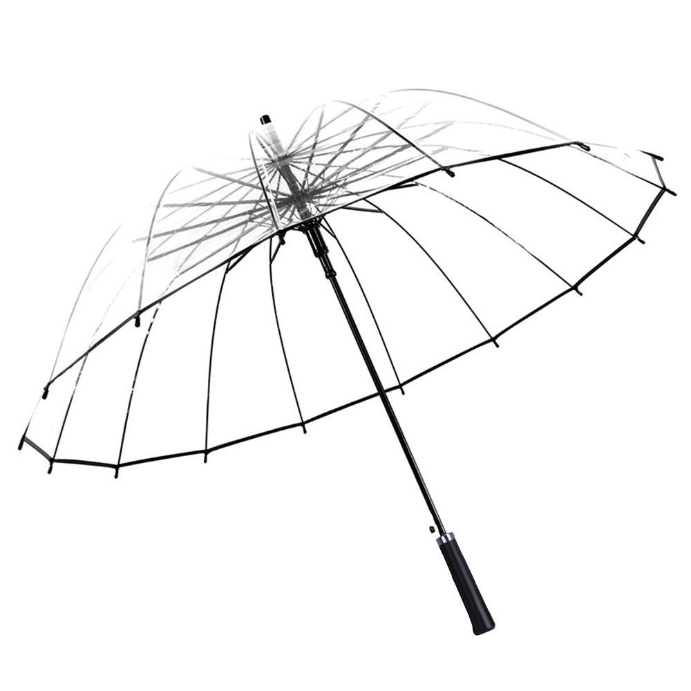 9f4915a3aa03 Clear Umbrella with Black Handle 97 cm Diameter Transparent Black ...