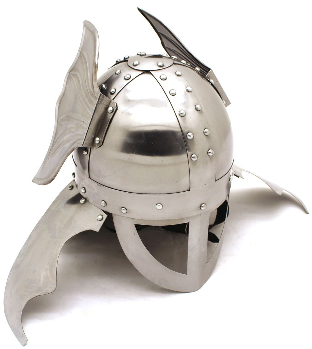 Winged Leather Lined Viking Helmet - DeluxeAdultCostumes.com
